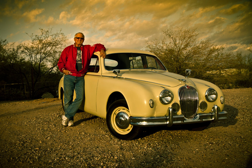 Jim Jones and his 1957 Jaguar Mark 1.
